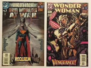 Lot of 21 Our Worlds At War DC Comic Book Issues Superman Wonder Woman Batman