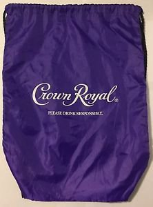 Crown Royal Purple Cinch Pack Drawstring Bag