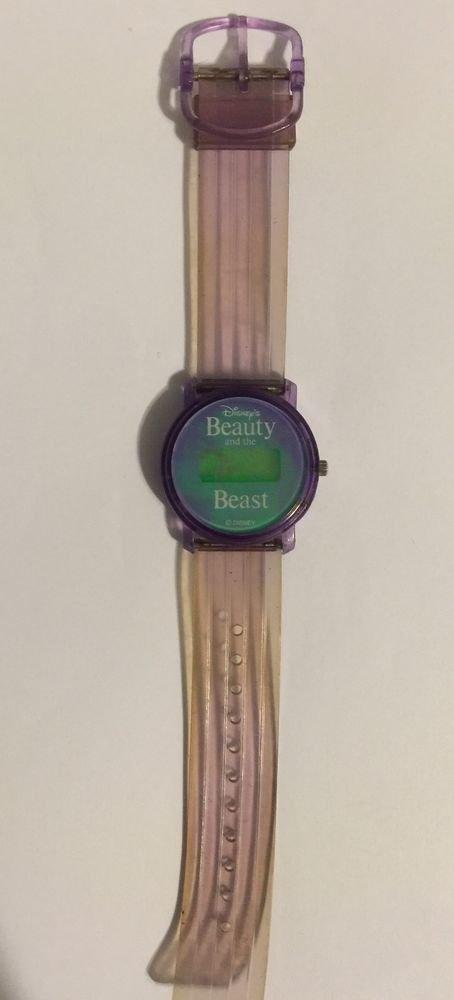Beauty And The Beast Holographic Purple Digital Wrist Watch