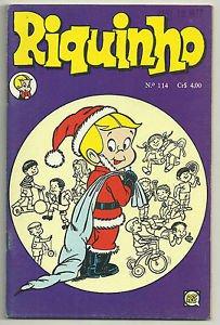 Riquinho #114 1976 Brazilian Richie Rich Edition Santa Richie Rich Cover