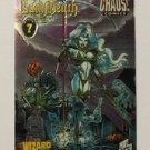 Wizard Lady Death Chromium Trading Card #7 1996