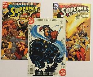Action Comics Lot of 3 #767-769 767 768 769 VS Deathstroke Shazam Arkham