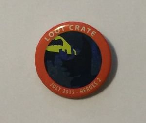 Loot Crate July 2015 Heroes 2 Batman Pinback Button