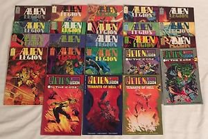 Alien Legion lot of 23 Comic Books Complete 2nd Series 1-18 On The Edge 1-3 Tena