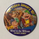 Wind In The Willows Favorite Stories Button 3 Inch VHS Promotional Disney
