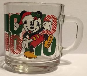 Mickey Mouse Christmas Ho Ho Ho Glass Mug