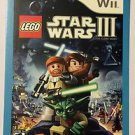 Nintendo Wii Lego Star Wars III Clone Wars Blockbuster Artwork Display Card