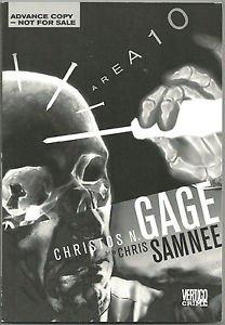 Area 10 (Vertigo Crime) Advance Copy Digest Graphic Novel Christos N Gage