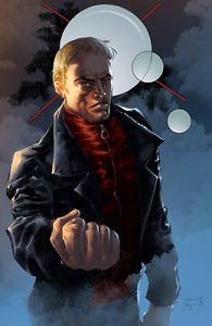 Ghost Assassin David's Angry Fist 11x17 Inch Poster Darkslinger Comics