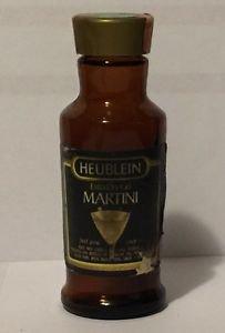 Heublrin Extra Dry Gin Martini Miniature Empty Glass Bottle