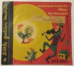A Little Golden Record Folk Songs Unbreakable Yellow Record Round and Round 1949