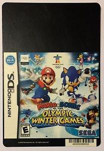 Nintendo DS Mario & Sonic Olympic Winter Games Blockbuster Artwork Display Card