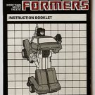 Transformers Heroic Omnibot Camshaft Instruction Booklet 1984 Hasbro