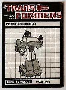 Transformers Heroic Omnibot Camshaft Instruction Booklet 1984 Hasbro