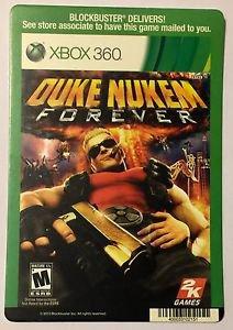 Xbox 360 Duke Nukem Forever Blockbuster Artwork Display Card