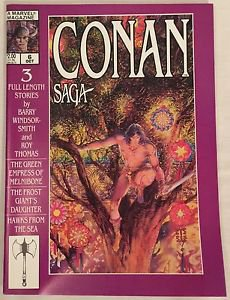 Conan Saga #6 (Oct 1987, Marvel) VG/FN Condition Comic Magazine