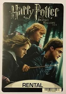 Harry Potter and The Deathly Hallows Part 1 Blockbuster Artwork Display Card