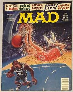 MAD #333 (Jan-Feb 1995, EC) NBA Shaq Parody Cover