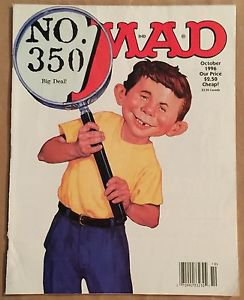 MAD Magazine #350 (Oct 1996, EC) Magnifying Glass Cover