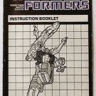 Transformers Evil Insecticon Shrapnel Instruction Booklet 1984 Hasbro