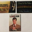 Lot of 3 Movie Promotional Pinback Buttons Star Wars Trilogy Liar Liar Armageddo