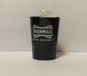 Bushmills Irish Whiskey Promotional Shot Glass Black Plastic