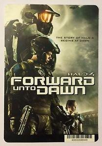 Halo 4 Forward Unto Dawn Blockbuster Artwork Display Card