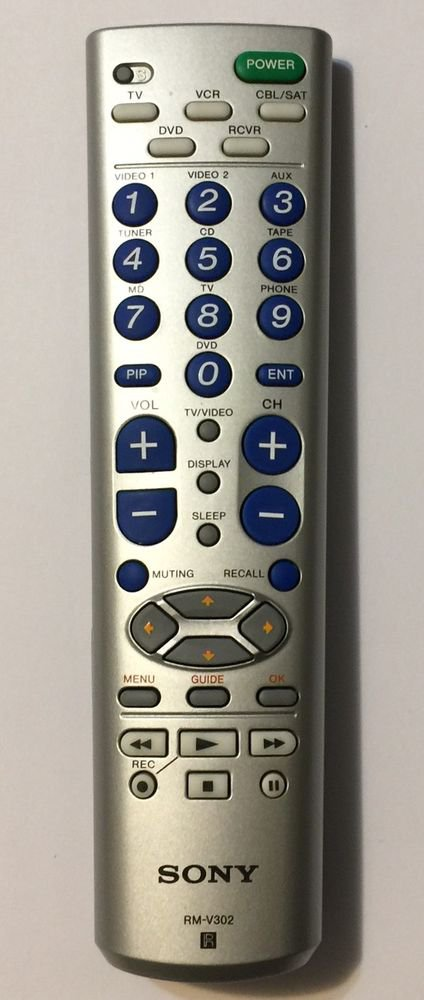 Sony RM-V302 R Silver Remote Control Controller