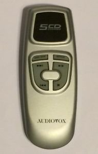 Audiovox 5 CD Changer Silver Remote Control Controller