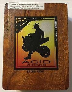 Acid Cigars By Drew Estate Holistics Cold Infusion Empty Cigar Box