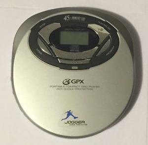 GPX Model C3974 Personal Portable CD Player Anti-Shock Protection Silver
