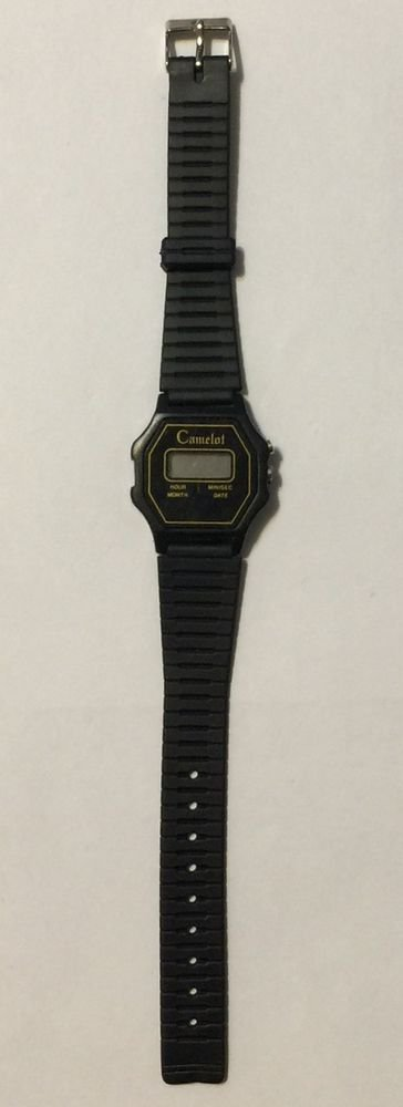 Camelot Black Digital Ladies Wrist Watch