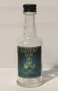 Calvert Gin Vintage Miniature Empty Bottle