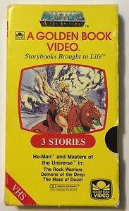 Masters of the Universe A Golden Book Video VHS He-man Rock Warriors Demons Deep