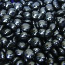 Creative Stuff Glass 1 lb bag Opal Black Glass Gems Flat Marble Vase Fillers