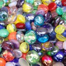 100 Mixed Multi Colors Glass Gems Mosaic Tiles Pebbles Flat Marbles Vase Fillers
