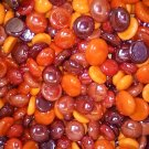Creative Stuff Glass 100 Halloween Mix - Red and Orange Glass Gems Flat Marbles Vase Fillers