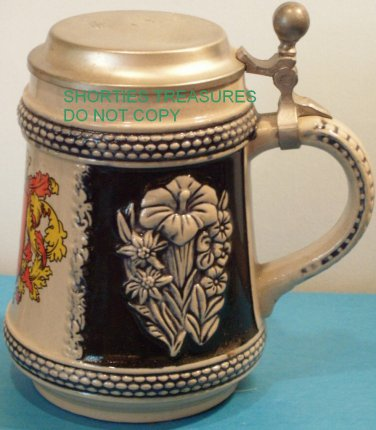 Bamberg Stein with Pewter Lid West Germany Vintage