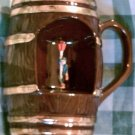 Musical, Glass, Barrel Style, Stein, Rotating Gent Turning to Music