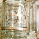 Alaska Airlines, Advertising, Clear Glass,Gold Stein, Vintage