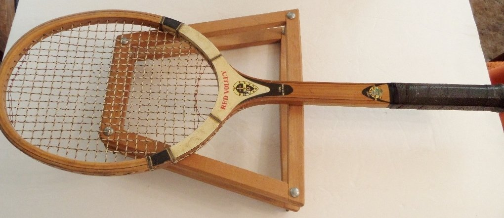 Red Volley, Tennis Raquet, Court Master, Stretcher, #Tennis Racket, Vintage