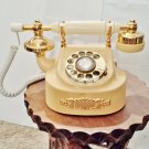 Western Electric French Style White and Gold Vintage Telephone