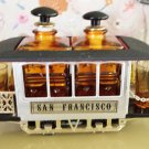 Fine San Francisco Musical Trolley Train Car Barware Liquor Service Set