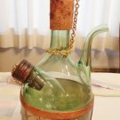 Marine Theme Green Glass Demijohn with Ice Pocket, Vintage