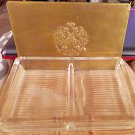 Two Section Glass Playing Card Holder Storage