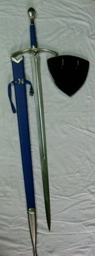 LOTR Glamdring Sword of Gandalf with Scabbard & Wall Plaque