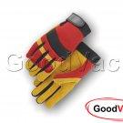 Majestic 2130R Mechanics Brushed Pigskin Leather Palm Thin Work Gloves - LARGE