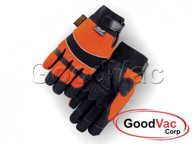 MAJESTIC 2145HOH Winter Lined Synthetic Leather Waterproof Armor Skin Gloves - S