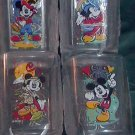 Four Vintage McDonalds 2000 Millennium Mickey Mouse Disney Collectible Glasses