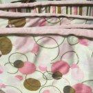 Sweet Bubbles Mod Dots Minkey Baby Bumper With Reverse Stripes Soft Colors